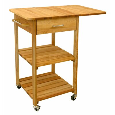 Kitchen Cart with Butcher Block Top