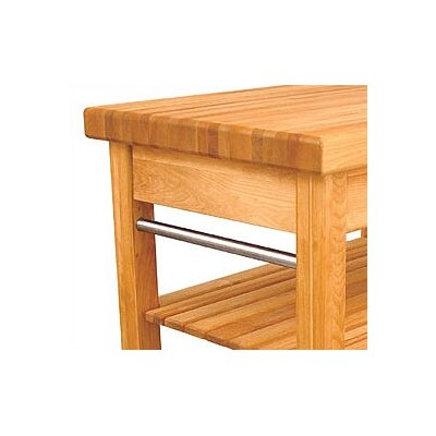 Catskill Craftsmen, Inc. French Country Kitchen Cart with Butcher Block Top