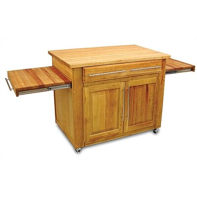Empire Kitchen Cart with Butcher Block Top