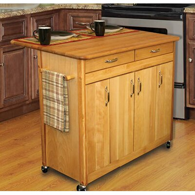 Home Styles Savannah Kitchen Island with Stainless Steel