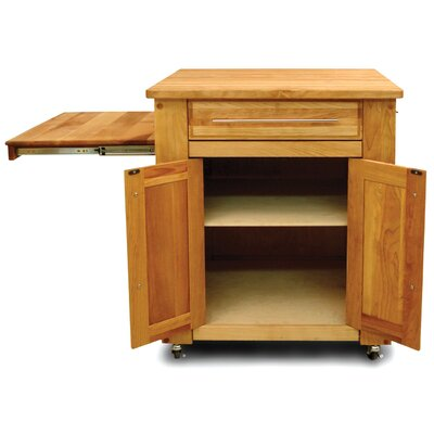 Catskill Craftsmen, Inc. Mini - Empire Kitchen Cart with Butcher Block Top