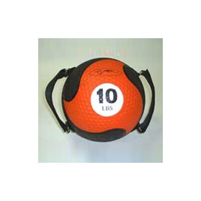 "FitBall Medballs With Straps 9"" in Orange"