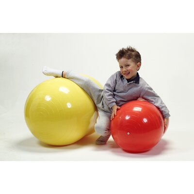 "Gymnic 16"" x 26"" Physio Roll Ball in Red"