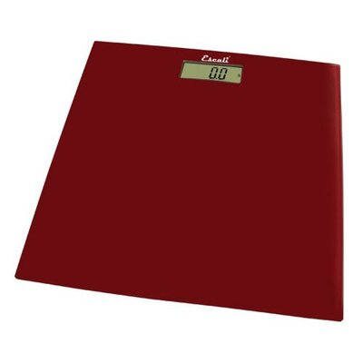 Escali Rio Red Square Glass Platform Bathroom Scale