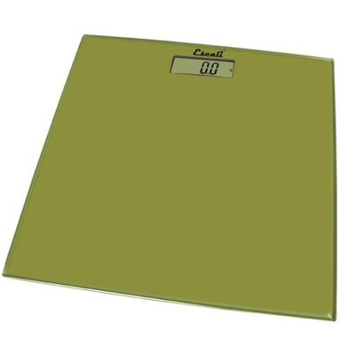 Escali Sage Green Square Glass Platform Bathroom Scale
