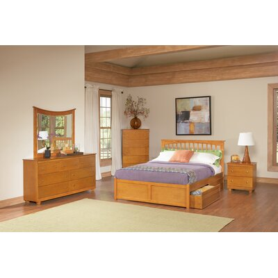 Atlantic Furniture Brooklyn Storage Slat Bed