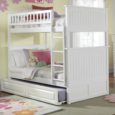 Atlantic Furniture Nantucket Bunk Bed with Raised Panel Drawers