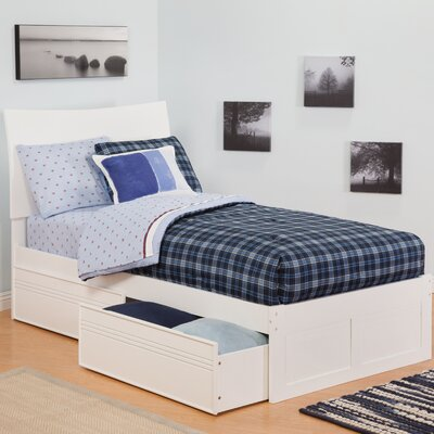 Atlantic Furniture Urban Lifestyle Soho Bed with 2 Bed Drawer Sets