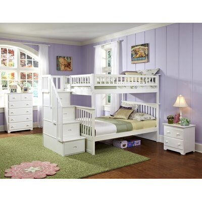 Atlantic Furniture Columbia Staircase Bunk Bed with Storage