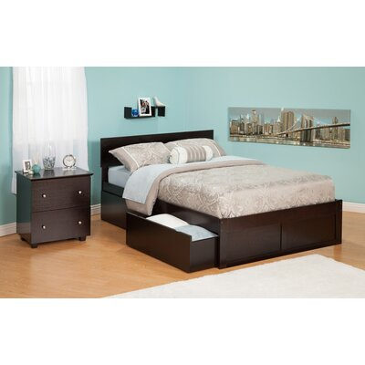 Atlantic Furniture Urban Lifestyle Orlando Bed with Bed Drawers Set