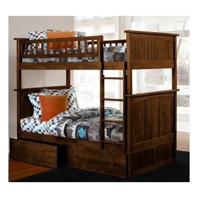 Atlantic Furniture Nantucket Bunk Bed with Flat Panel Drawers