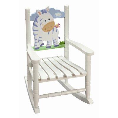 Sunny Safari Zebra Kid's Rocking Chair