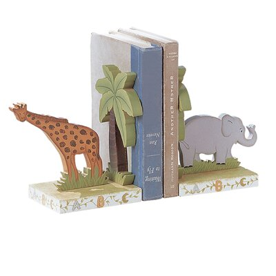Teamson Kids Alphabet Animal Theme Book Ends