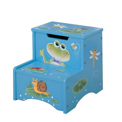 Teamson Kids Froggy 2-Step Storage Step Stool
