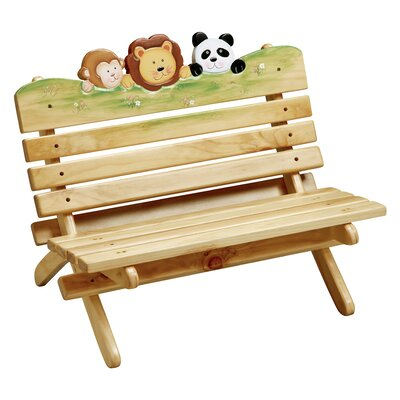 Sunny Safari Outdoor Kid's Bench