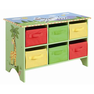 Teamson Kids Sunny Safari Storage Cubby Base Set