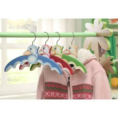 Teamson Kids Dinosaur Kingdom Children's Hanger (Set of 4)
