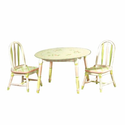 Teamson Kids Crackled Rose Kids 3 Piece Table and Chair Set