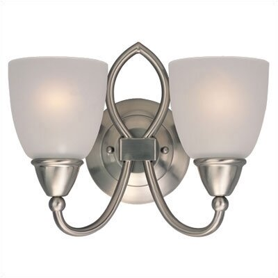 Sea Gull Lighting Pemberton Vanity Light in Brushed Nickel