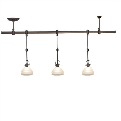track lighting with 3 pendants
