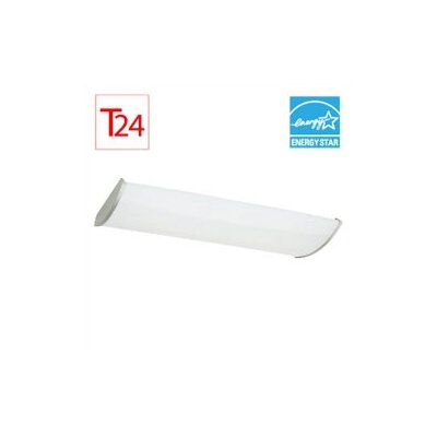 Complete 2 Light Fluorescent Linear Fixture
