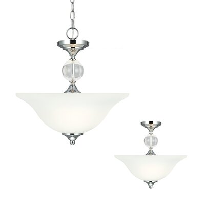 Englehorn 2 Light Bowl Pendant