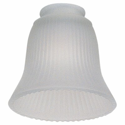 Frosted Ribbed Glass Shade for Ceiling Fan Light Kit