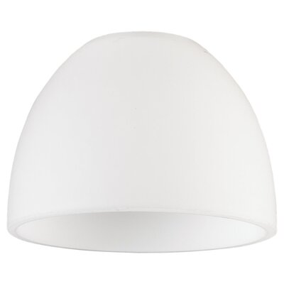 Dome Opal Cased Etched Glass Shade