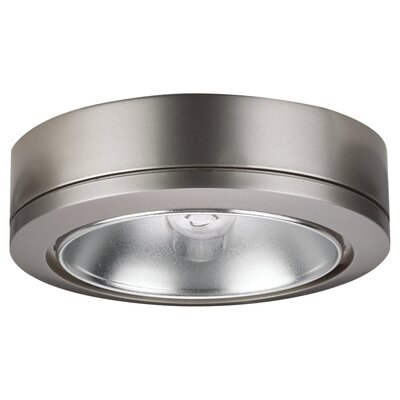 Sea Gull Lighting Ambiance Disk Light with Housing in Brushed Nickel