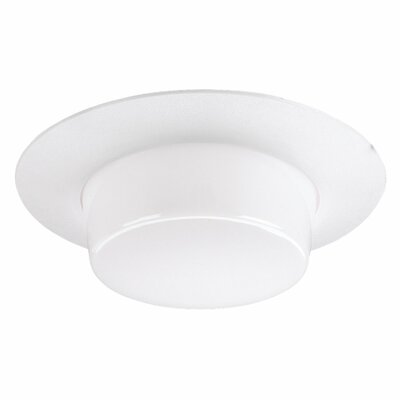 "Sea Gull Lighting 6"" Recessed Housing Drop Lens Shower Trim in White"