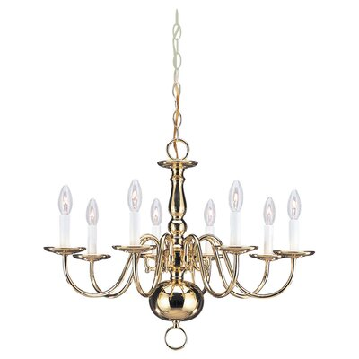 Traditional 8 Light Chandelier