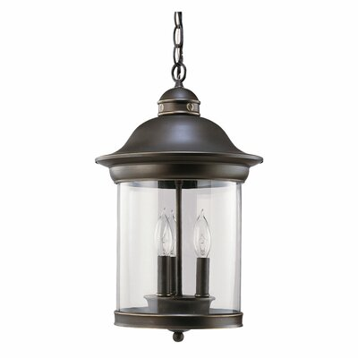 Sea Gull Lighting Hermitage 3 Light Outdoor Pendant
