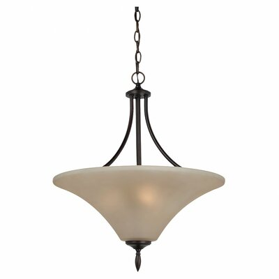 Sea Gull Lighting Montreal 3 Light Uplight Inverted Pendant
