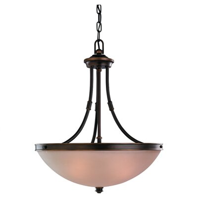 Warwick 3 Light Inverted Pendant