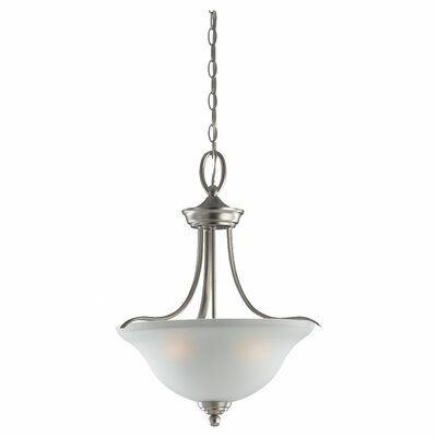 Sea Gull Lighting Wheaton 3 Light Inverted Pendant