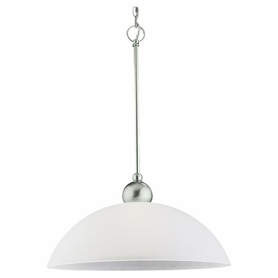 Metropolis 1 Light Bowl Pendant