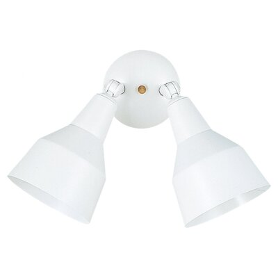 Sea Gull Lighting Outdoor Adjustable Two Head Aluminum Floodlight