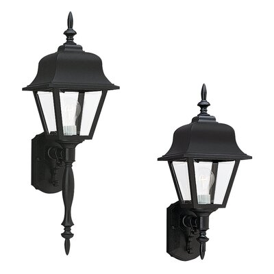 Sea Gull Lighting Polycarbornate Painted Outdoor Wall Lantern in Black