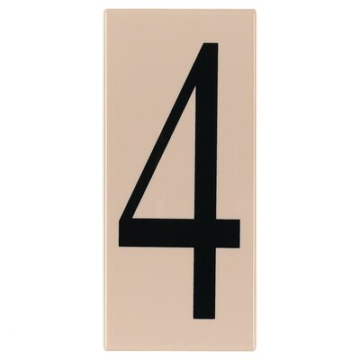 "Sea Gull Lighting Ambiance ""4"" Address Number Tile in Creme"