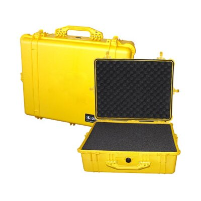"Pelican Products Equipment Case with Foam: 19.44"" x 24.25"" x 8.69"""