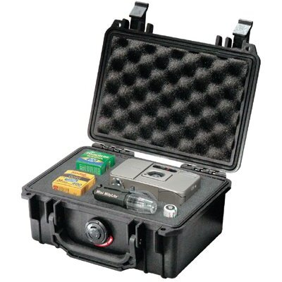 "Pelican Products Small Protector Cases - 8-1/4""x6-1/2""x3-5/8"" black protective case"