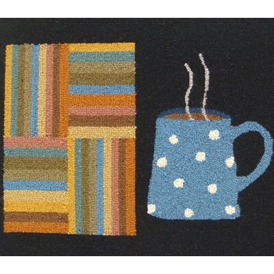 Susan Branch Home Cuppa Joe: 2' x 3' -  Black Rug