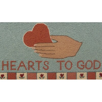 Susan Branch Home Heart in Hand: 2' x 3' - Blue Rug