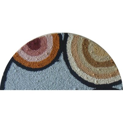 "Susan Branch Home Baby Chicks Round: 15"" x 15"" - Blue Chair Pad"