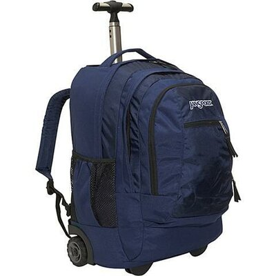 Jansport Driver 8 Wheeled Backpack in Navy