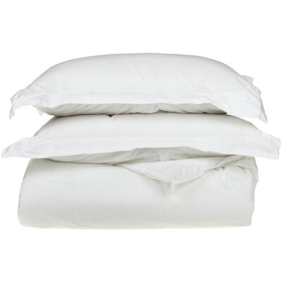 530 Thread Count Egyptian Cotton Solid Duvet Cover Set