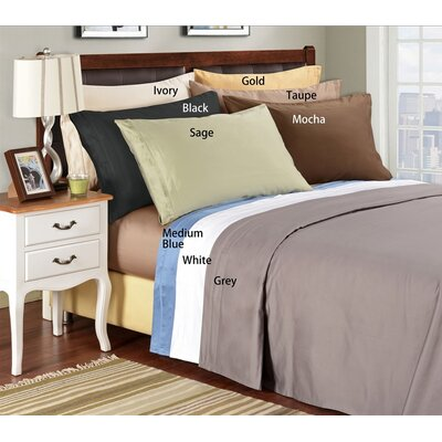 1500 Thread Count Egyptian Cotton Solid Pillowcase Set