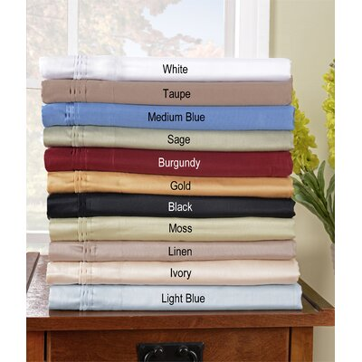 650 Thread Count Egyptian Cotton Solid Pillowcase Set
