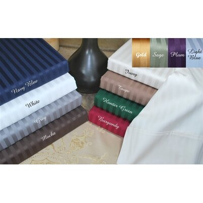 400 Thread Count Egyptian Cotton Stripe Duvet Cover Set