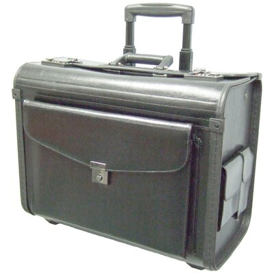 McBrine Luggage Salesman Case on Wheels in Black